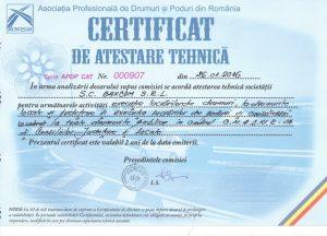 Certificat de atestare tehnica