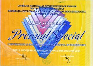 Premiul Special Continuitate si Eficienta in Managementul Intreprinderii