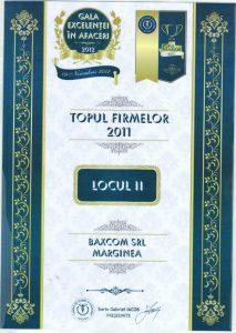Topul Firmelor 2011 Locul 2