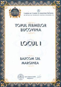 Topul Firmelor Bucovina Locul 1